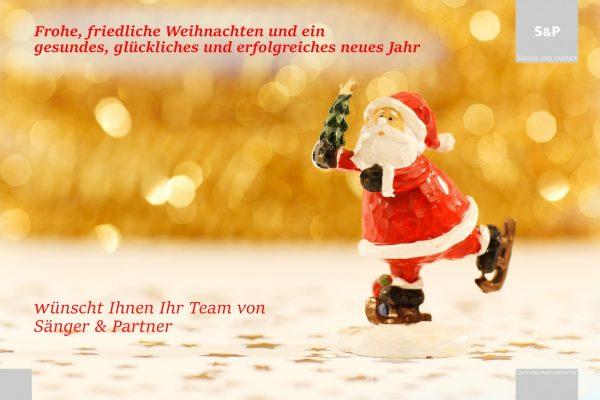 Frohe Weihnachten wünscht Sänger & Partner